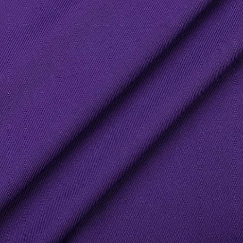 en Pure Blouse Couleur Haut Chemise Violet Cher Taille Femme Grande Col Top Manche T Sixcup Vetement Tops Shirts Pas Longue Shirt Chemisier Dentelle Irrgulier BdqqwU