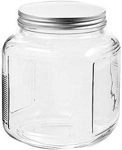 Anchor Hocking Storage Jar with Screw Cap, 1 Quart