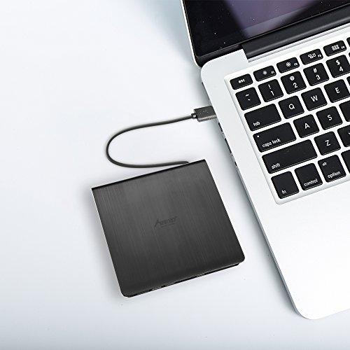 External DVD Drive, MAD GIGA USB 3.0 Transmission Slim Portable External DVD CD +/-RW Writer/Burner/Rewriter ROM Drive Perfect for Mac OS/Win7/Win8/Win10/Vista PC Desktop Laptop by MAD GIGA (Image #5)