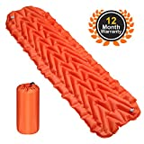 #5: AuAg Ultralight Sleeping Mat Inflatable Sleeping Pad with Air-Support Cells Design for Hiking, Backpacking, Camping, Traveling