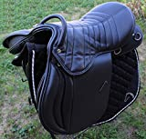 "17"" English Horse Professional Polo Black Leather ..."