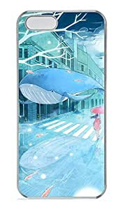 Anime Girls And Whale Hard Case Cover iPhone 5S 5 Polycarbonate Clear