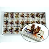 48pcs Lot Butterfly Fly Fishing Trout Salmon Flies Fly Tackle Set