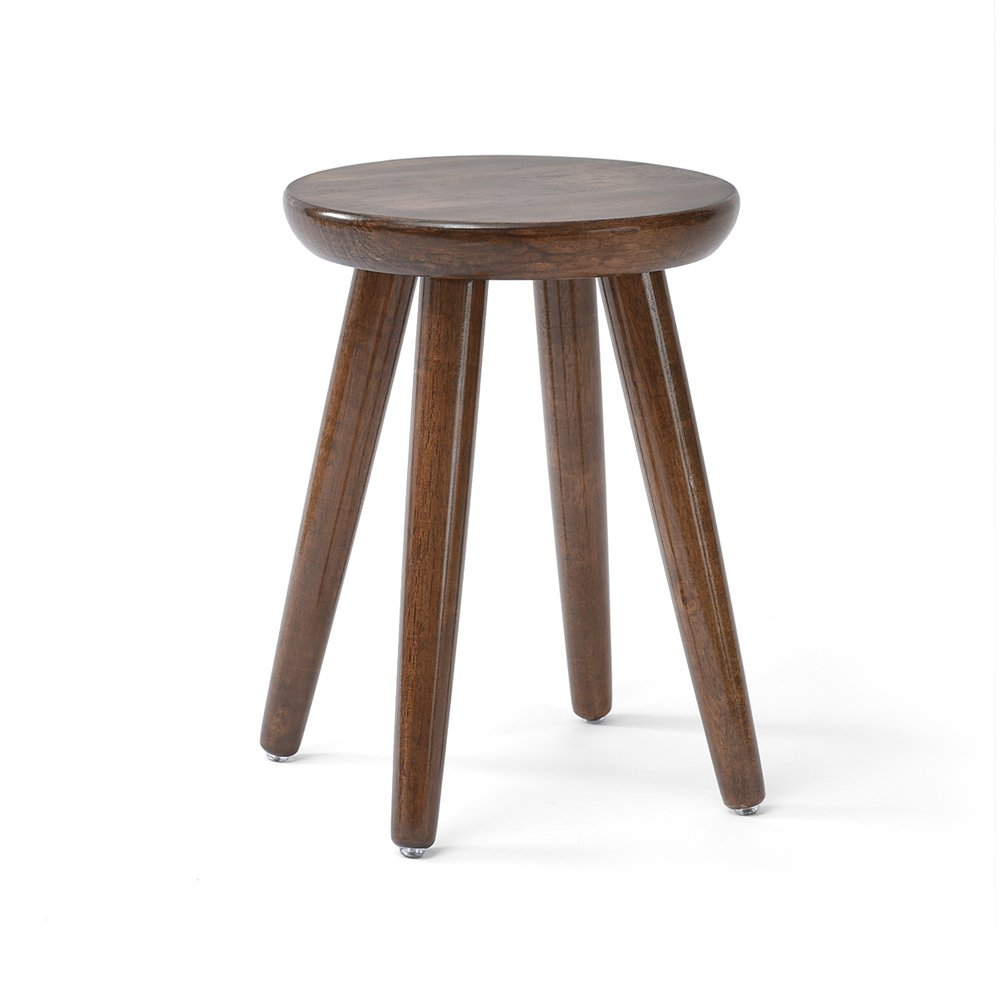 Japanese-style Solid Wood Stool, Creative Round Stool, Small Bench, Table And Stool, Fashion Table Stool, Stool, Dressing Stool, Pure Wood To Create Super Easy 2 Size Options (Color : E)