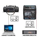 M4 Mini 4 Channel Mixer Audio DJ Console with Sound
