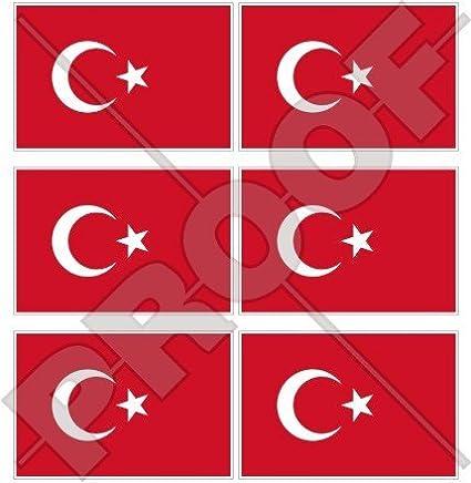 Sticker coat of arms flag car vinyl decal outdoor bumper shield turkey