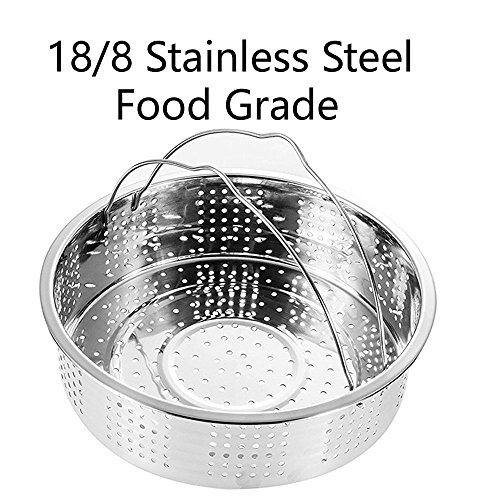 Steamer Basket With Egg Steamer Steamer Rack for Instant Pot and Pressure Cooker Accessories, Vegetable Steam Rack Stand. Fits Instant Pot 5,6,8 qt Pressure Cooker, Stainless Steel, 2 Pieces by OYOY (Image #5)