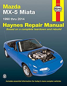 mazda mx 5 miata 1990 to 2014 haynes repair manual paperback rh amazon co uk Haynes Repair Manuals Online Haynes Repair Manuals PDF
