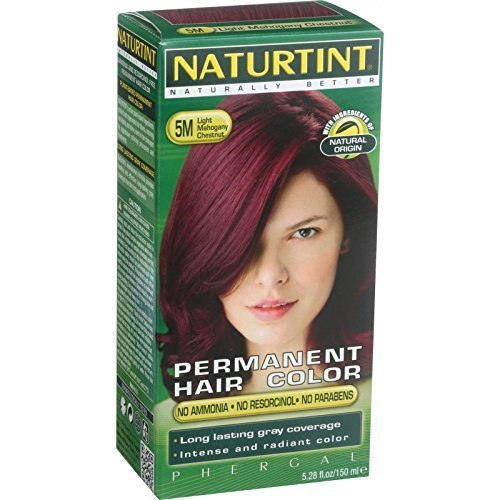 NATURTINT HAIR COLOR,5M,LT MHGNY CH, 5.28 FZ by Naturtint