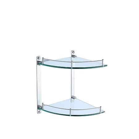 Bathroom Shelf Corner Glass Storage - - Amazon.com