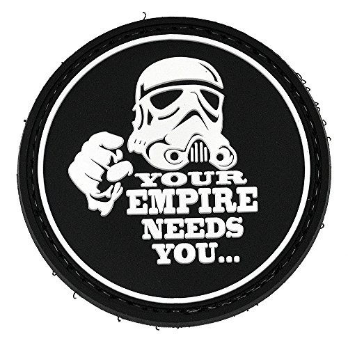 LIVABIT PVC Rubber 3D Morale Patch MP-47 Tactical Airsoft Paintball Republic Stormtroopers You're Empire Needs You