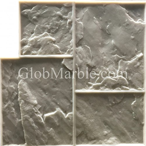 GlobMarble Stamped concrete. Slate Stone Stamp SM 3002/F. Ashlar Slate Concrete Stamp Floopy Mats by GlobMarble (Image #2)