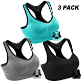 Women Racerback Sports Bras High Impact Workout Yoga Gym Activewear Fitness Bra