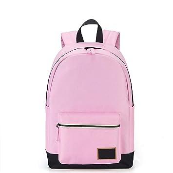 kaoling Mochila Moda para Mujeres Mochilas Viaje Ocio Mochila para NiñAs Contraste Color Adolescente Laptop Bagpack Mochilas Escolares Light Pink: ...
