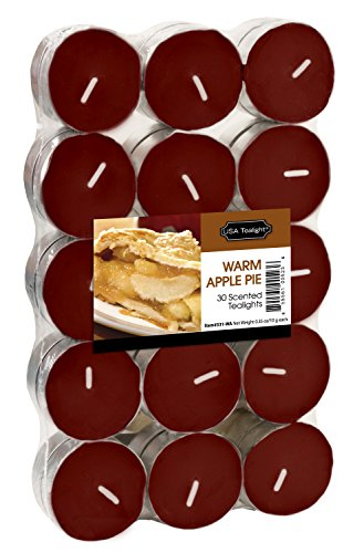 USA Tealight Warm Apple Tealights, 30-Pack