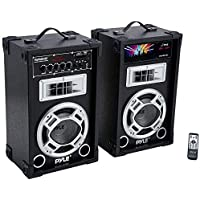 800 Watt Powered Bluetooth Speaker - PA Dual System Disco...