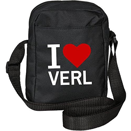 Borsa A Tracolla Classic I Love Verl Black