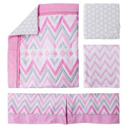 Circo 4pc Crib Bedding Set - Pink Zzzz's by Circo   B0158SCGIW