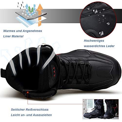 Trekkingschuhe Herren Combat LONG Stiefel Wanderschuhe Schuhe Boots Schwarz Rutschfeste Damen XIAO Winterstiefel für Outdoor Sommor Bundeswehr xXA0qq