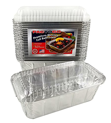 Pactogo 1 1/2 lb. IVC Disposable Aluminum Foil Loaf Bread Pan w/Clear Dome Lid (8'' x 4.1'' x 2.2'') - Heavy Duty Made in USA (Pack of 200 Sets) by PACTOGO (Image #6)