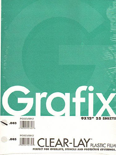 12 X 12 Acetate - Grafix Clear-Lay Acetate Alternative 9 in. x 12 in. .003 thick pad of 25