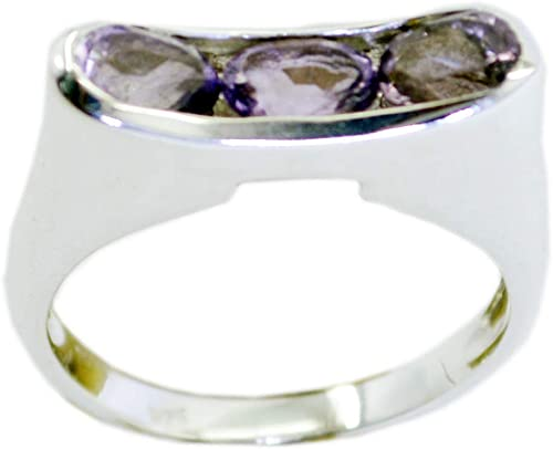 Amethyst Purple Stone Silver Ring India 925 Sterling Silver Classy Genuine Purple Ring
