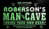 qd1474-g ROBERSON's Man Cave Soccer Football Neon Beer Sign