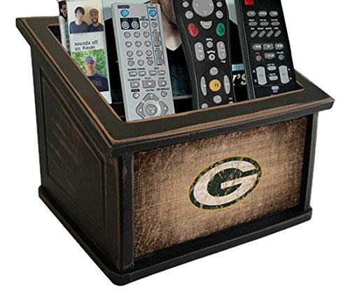Fan Creations N0765-GBP Green Bay Packers Woodgrain Media Organizer, One Size, Multicolored