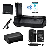 Bluetooth Battery Grip Bundle F/ Canon EOS 70D: Includes BG-E14 Replacement Grip, LP-E6 Long-Life Battery, Charger, Microfiber Cleaning Cloth, Lens Cleaning Pen
