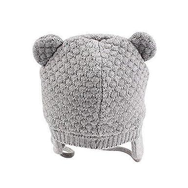 DRESHOW Sombrero de Beb/é Lindo Oso Oreja Reci/én Nacido Gorra Calentar para Oto/ño Invierno