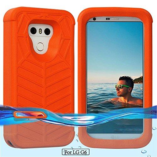 Temdan LG G6 Case Floating Case with a 0.2mm clear&thin Waterproof Bag Shockproof Lifejacket Case for LG G6 (2017) -ORANGE
