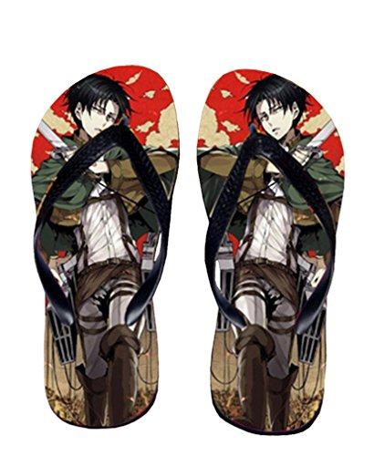 Bromeo Attack on Titan Anime Unisex Flip Flops Chanclas 184