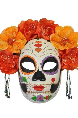 Pure Seasons La Calavera Catrina Masquerade Mask (La Calavera Catrina Costume)