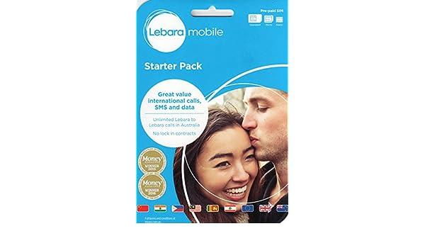 Australia/Australia Lebara móvil (Vodafone) Prepay Pay as you go ...