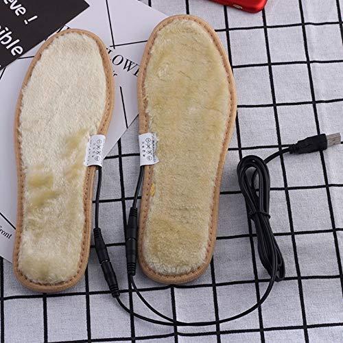 HATCHMATIC USB Plug électrique Chaussures Chauffants Semelles en Peluche Film Heater Chaud Chaussettes Tapis de Pied: 40