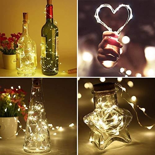 Luz de Botella | Luces Cadena 10 Paquetes/2Metros/20 LED ...