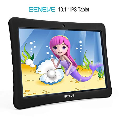 BOGO! 10 inch Kid Tablet, 1080p Full HD Display Android 7.0,2GB+32 GB,Dual Camera Front 2MP+ Rear 5MP,Bluetooth and WiFi Blue Kid-Proof Case (Black)