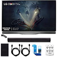 LG OLED55E7P - 55 E7 OLED 4K HDR Smart TV w/ Sound Bar Bundle Includes, 4.1ch Wi-Fi Sound Bar w Wireless Subwoofer + 2x 6ft HDMI Cable + Universal Screen Cleaner + 6 Outlet Wall Tap w/ 2 USB Ports