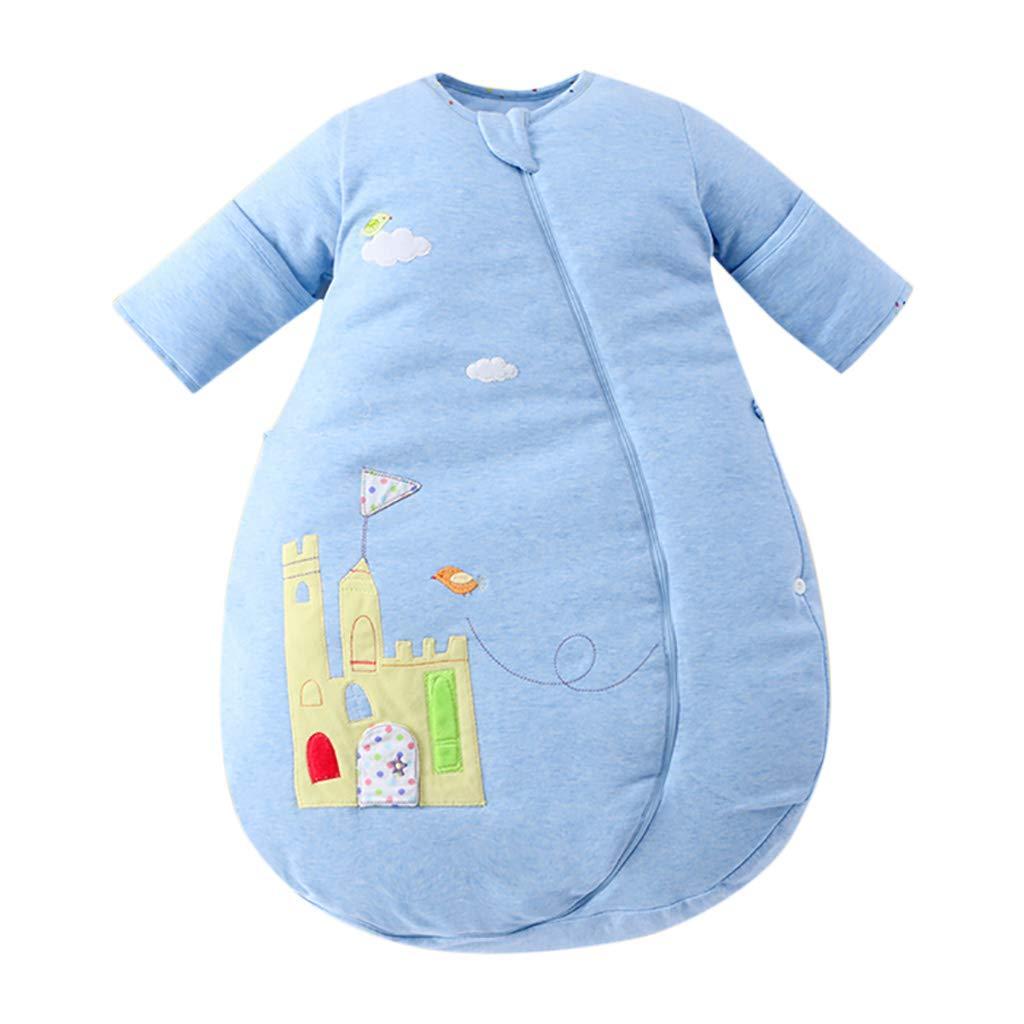 HUYP 袖付き赤ちゃん用寝袋寝袋ラップ毛布冬の赤ちゃんの巣蹴り止め秋コットン新生児キルト (色 yards : Blue A-double layer, サイズ B07NV8STMW さいず C-quilted : 100 yards) B07NV8STMW 73 yards|Blue C-quilted Blue C-quilted 73 yards, ネックス:52a37e57 --- artmozg.com