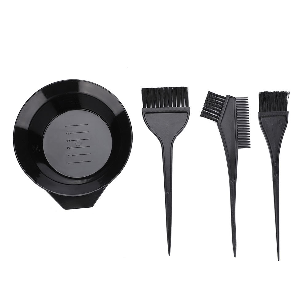 Hair Dye Color Brush and Bowl Set,Brush and Bowl Set Professional Hair Salon Dyeing Perming Tools for Professional Hair Salon Use by Riuty