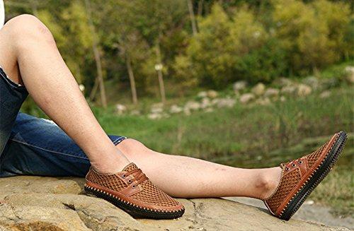 Scarpe Libero Il Casuale Uomo Tempo per Moda Popolare Scarpe Allacciare marrone LIEBE721 xAwZqYBF