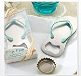 18pcs Flip-Flop Bottle Openers Wedding Favors Thong Beach Wedding Decoration w Gift Box