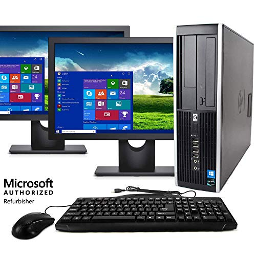 - Dell Wireless Desktop Computer Package Compatible with HP Elite Intel Quad Core i5 3.1-GHz, 8gb Ram, 1 TB, Dual 19