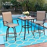 PHI VILLA Patio Bar Table, Outdoor Bar Height