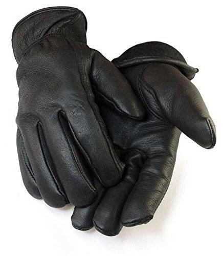 Northstar Mens Full Grain Black Deerskin Lined with 40 gram 3M Thinsulate 013B (Black Deerskin Leather)