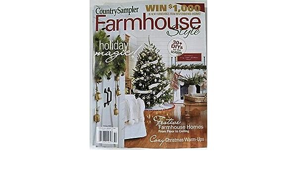 Country Sampler Farmhouse Style Holiday Magic Magazine Christmas 2020 Generic Amazon Com Books