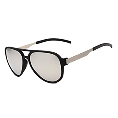 540475aace Black frame + Silver lens Men s Retro Outdoor Polarized Sunglasses Sports  Driving Eyewear Eye Glasses New