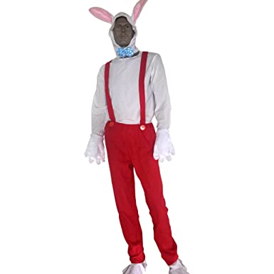 Rabbit With Overalls Adult Fancy Dress Who Framed Roger Rabbit ...