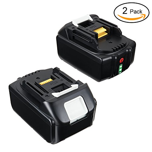 Bingogous 18V 5.0Ah Lithium-Ion Battery with LED Indicator for Makita BL1850B BL1850-2 BL1830 BL1840 BL1850 LXT-400 194204-5 Cordless Power Tools - 2Pack