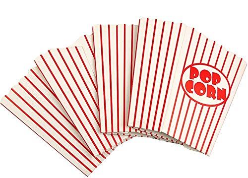 Cine pequeñas cajas de palomitas de maíz - Papel cajas de palomitas de rayas rojo y blanco - Ideal para noche de cine o película de diseño de tema, Teatro, ...